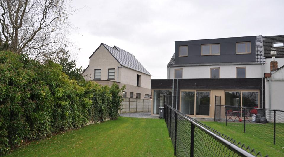 Haacht – Renovatie met aanbouw van 3 woningen